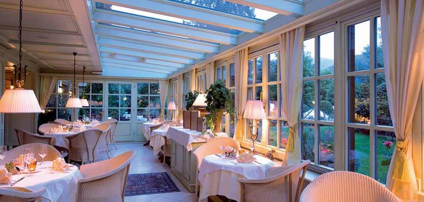 Hotel Tirolerhof, Zell am See, Austria - dining room with winter gargen.jpg